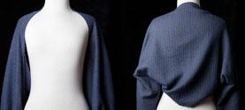 bolero in seta, merino e cashmere. © lauramengani